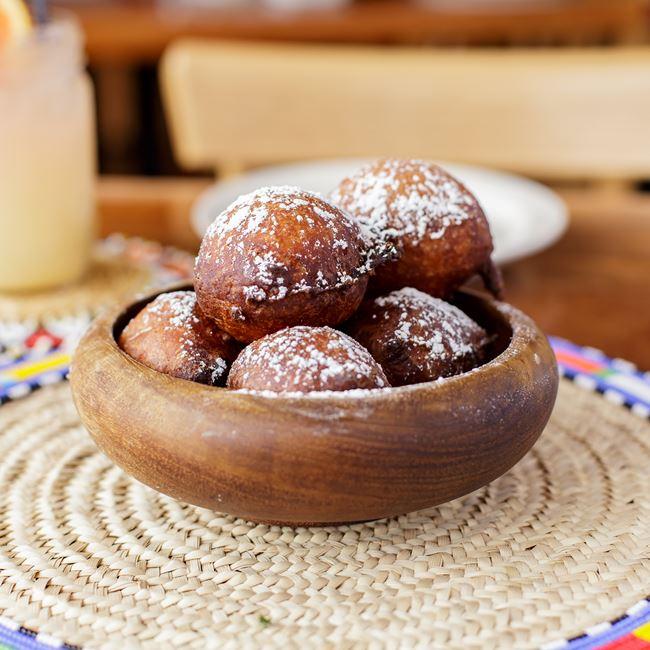 Beignet Fritters Du Jour at Irie Zulu