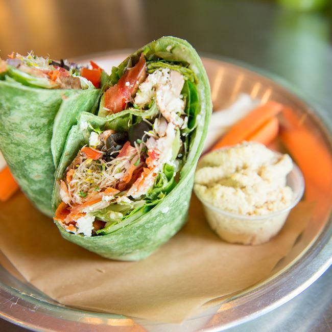 "Greek Wrap at Get ""Real"" Cafe"