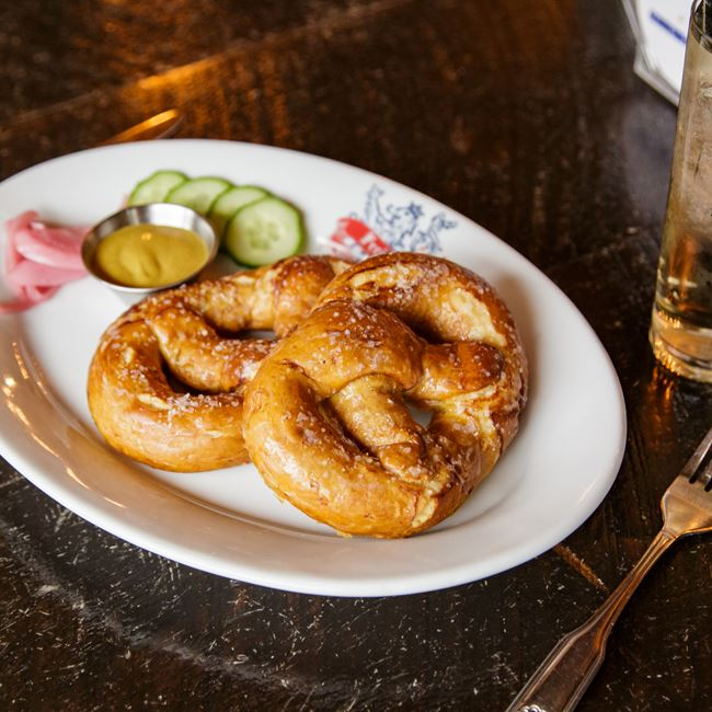 Haus Made Bavarian Pretzels at Freiburg Tap Haus