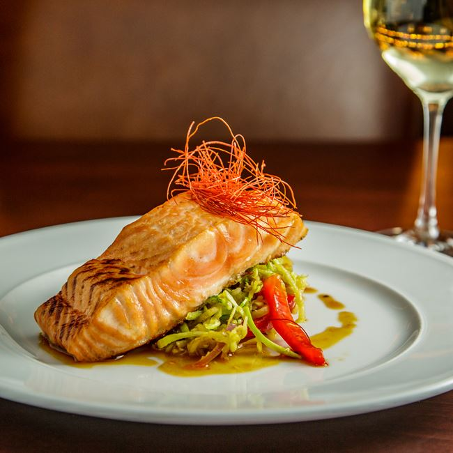 Teriyaki Glazed Salmon at Mason Street Grill