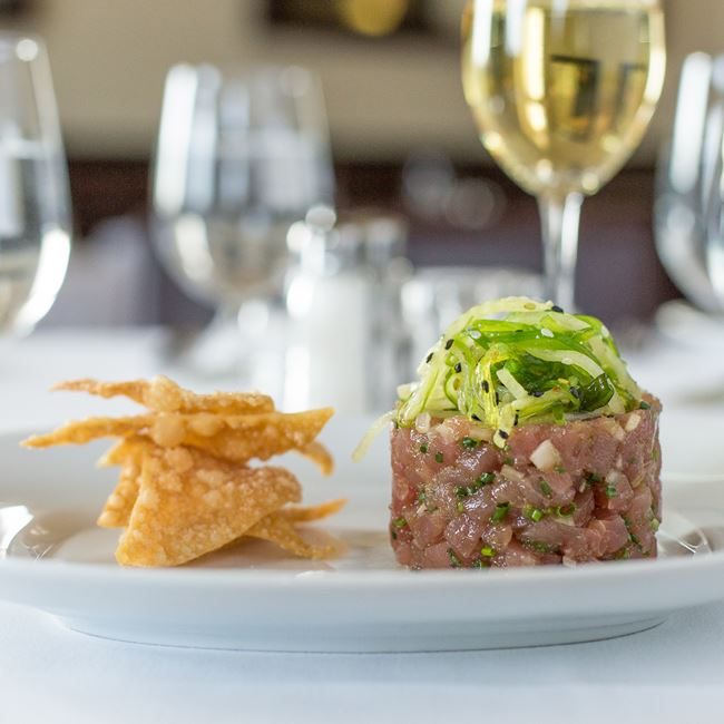 Yellowfin Tuna Tartare at Bacchus