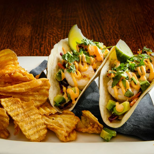 Thai Shrimp Tacos at Sprecher's Restaurant & Pub