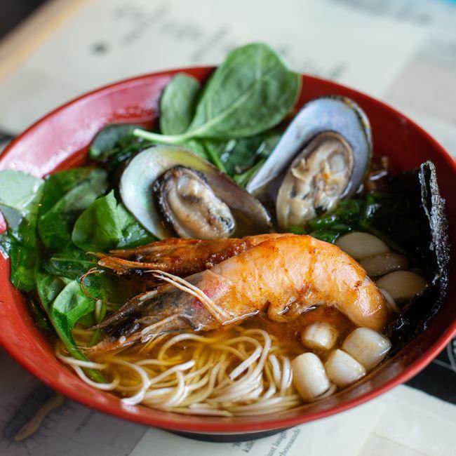Seafood Ramen at Ramen Bowls