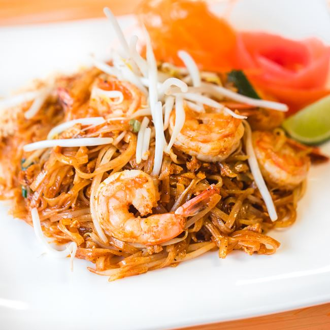 Shrimp Pad Thai at Nisa Thai Asian Cuisine