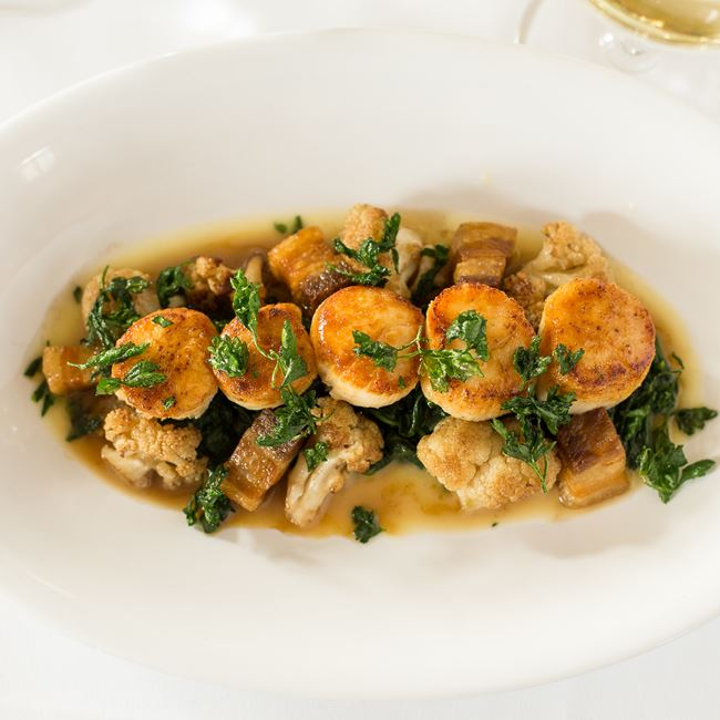 Sea Scallops at Bacchus