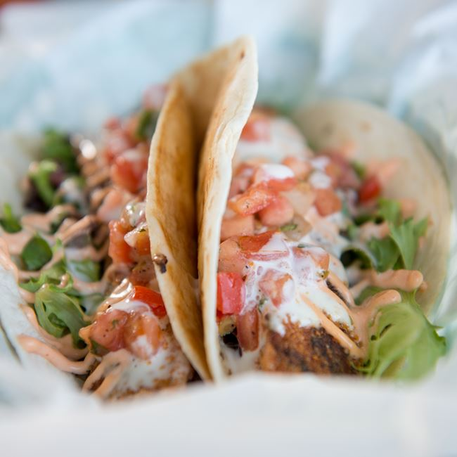 Fish Tacos at Waterfront Mary's Bar & Grill