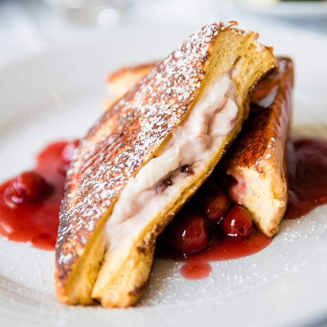Door County Cherry Stuffed French Toast at Harbor Fish Market & Grille