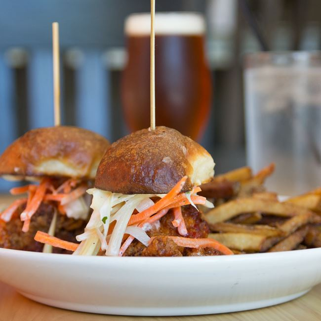 Fried Chicken Sliders at Oliver's Public House