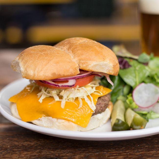 Classic Burger at Fuel Café