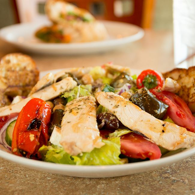 Greek Salad with Chicken at Sofra Family Bistro