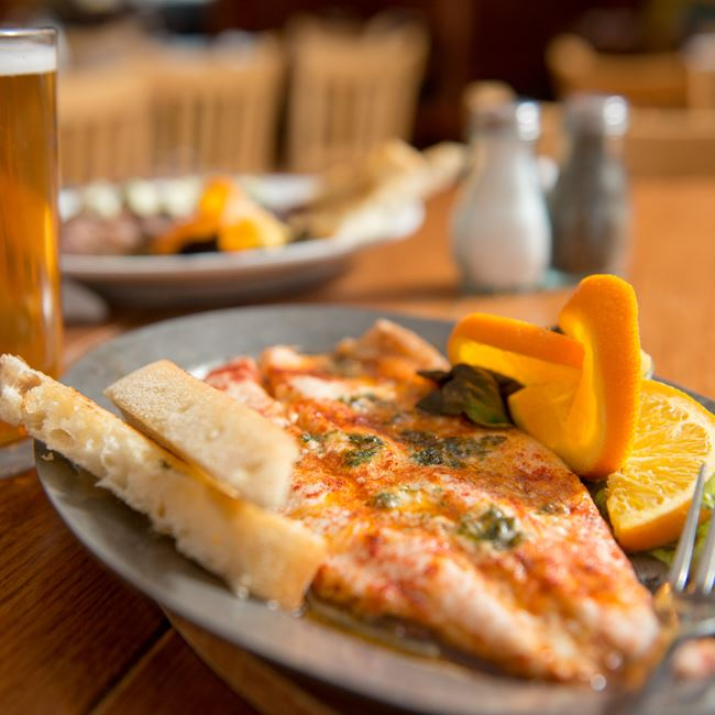 Door County Whitefish at Island Fever Rum Bar & Grill