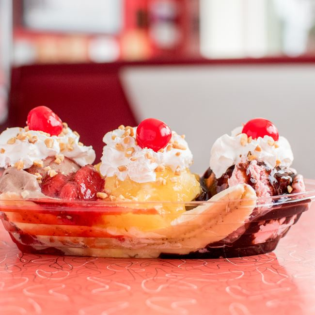 Banana Split at Wayne's Drive-In