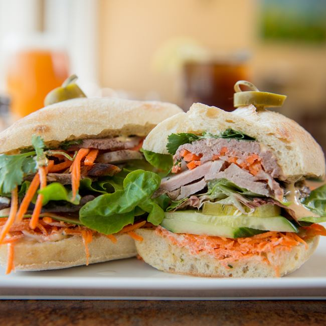 Banh Mi Sandwich at Bluefront Cafe