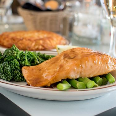 Bourbon Glazed Salmon Fillet