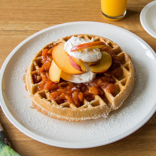 Apple Cinnamon Belgian Waffle at Tre Rivali