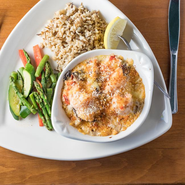 Seafood Bake at Houligans Steak & Seafood Pub