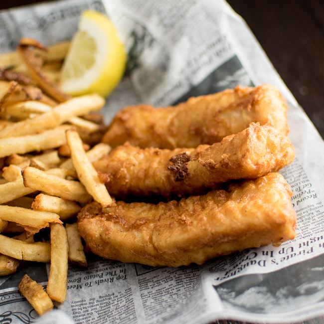 Fish & Chips at Dublin's Irish Pub