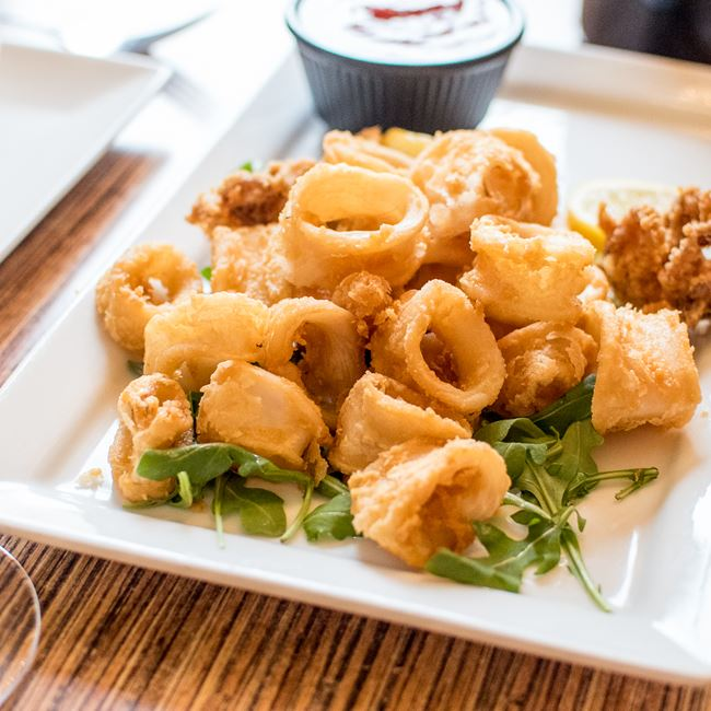 Crispy Calamari at Villa Dolce Cafe