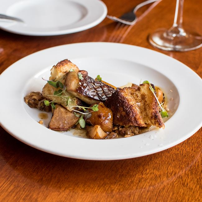 Seared Foie Gras at Brasserie V
