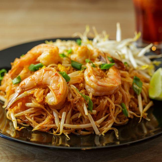Pad Thai with Shrimp at Bahn Thai