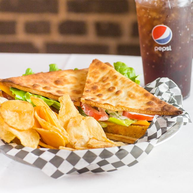 Club Cedars Flatbread Sandwich at Cedars III Bowling Center
