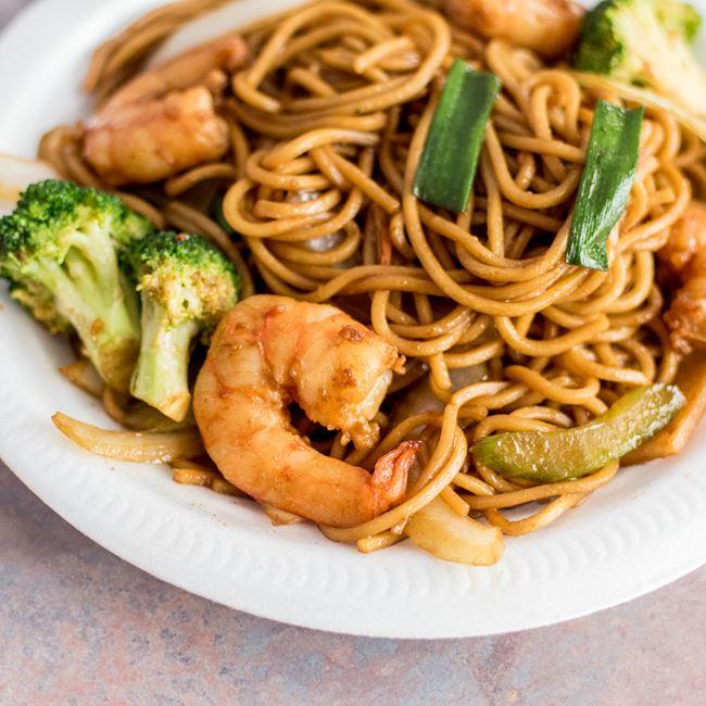 Shrimp Lo Mein at Happy Wok