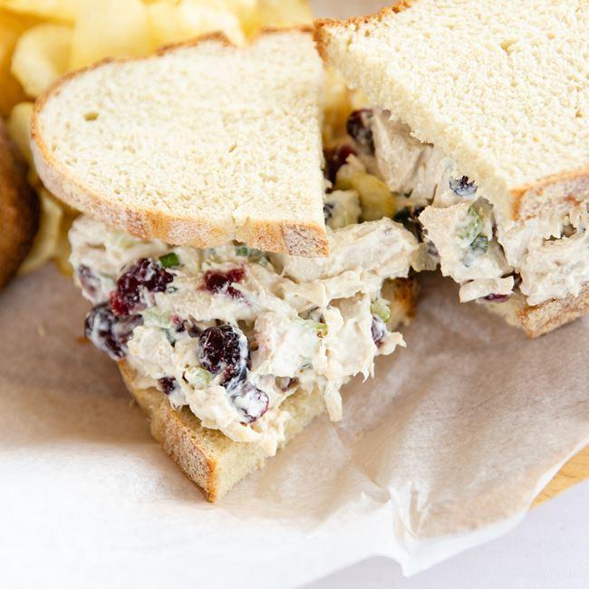 Cranberry Chicken Salad Sandwich at Macready Artisan Bread Co LLC