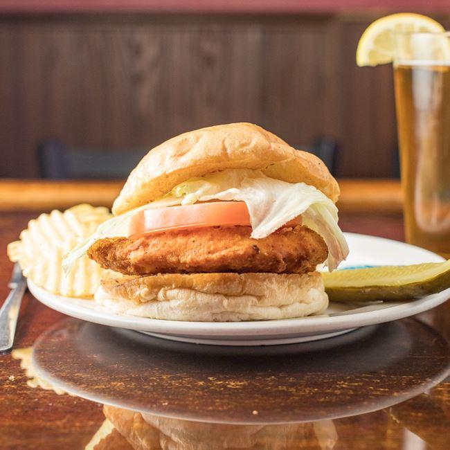 Krispy Chicken Sandwich at Girolamo's Court'n House Bar & Grill