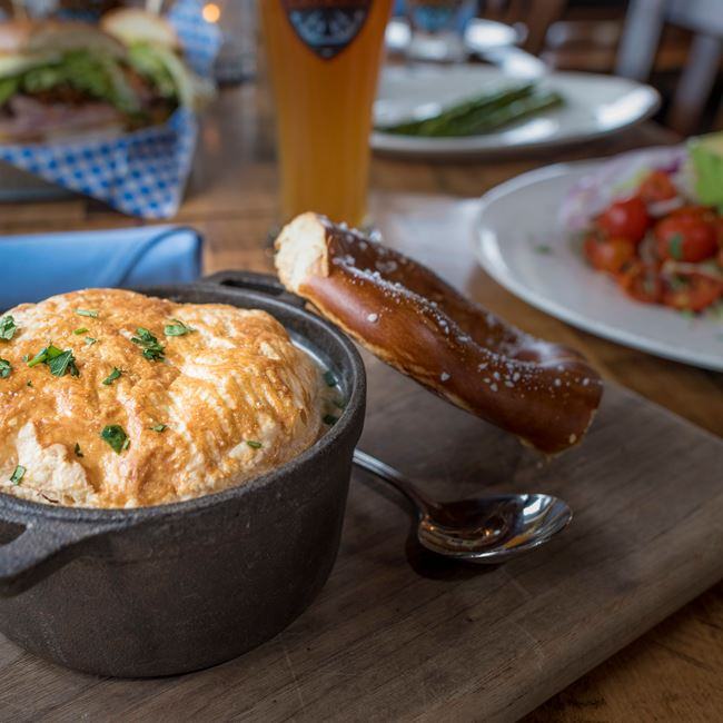Puff Pastry Pot Pie at Café Bavaria