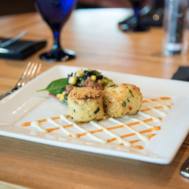 Crab Cakes at Bonfyre American Grille