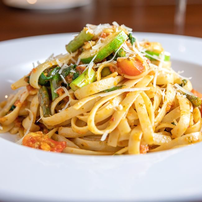 Pasta Primavera at Gardina's Wine Bar and Cafe