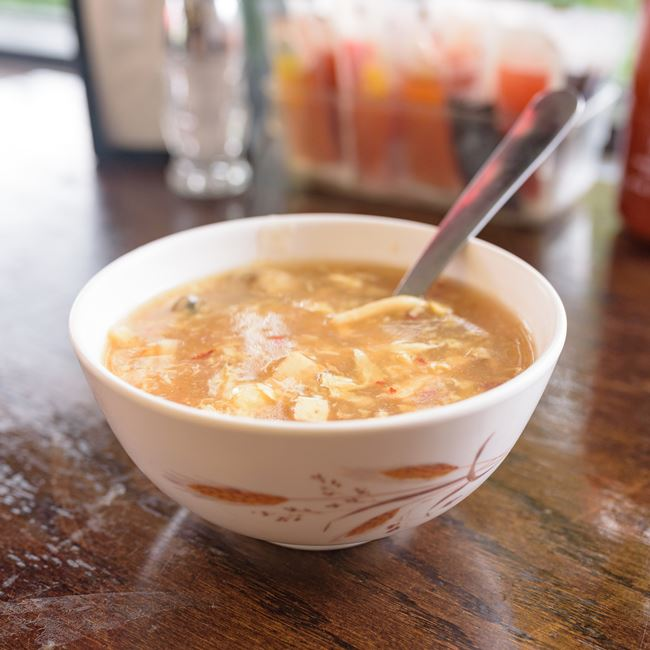 Special Hot & Sour Soup at Lucky Kitchen