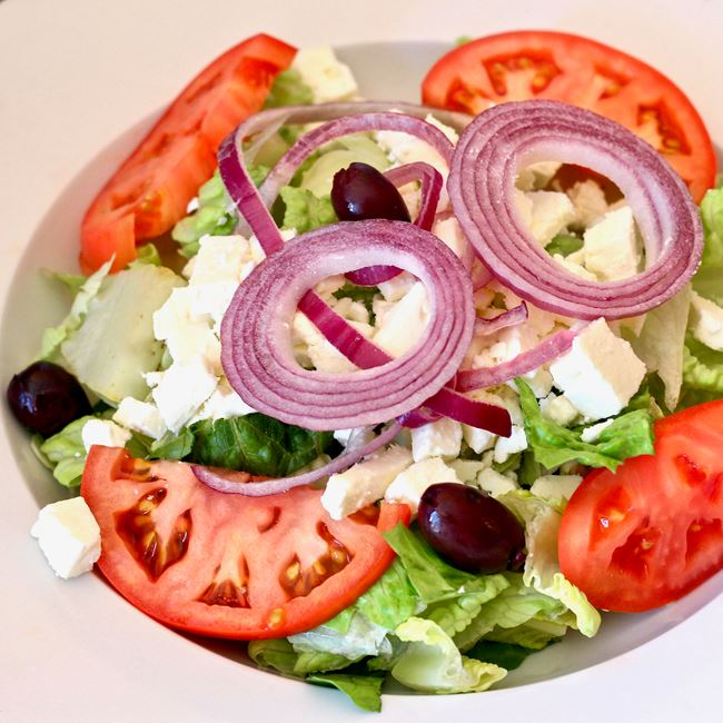 Greek Salad at Zorba's Pizza