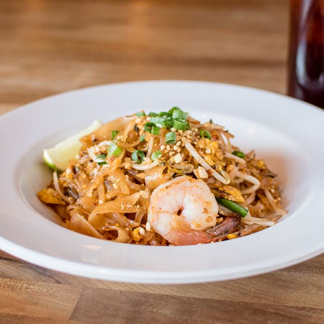 Pad Thai Special with Shrimp  at Bandung Indonesian Restaurant