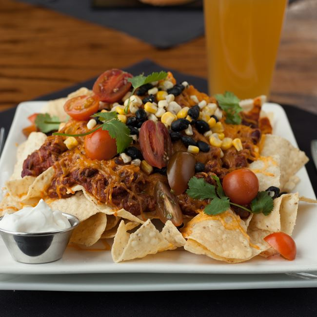 Bison Nachos at Minocqua Brewing Company
