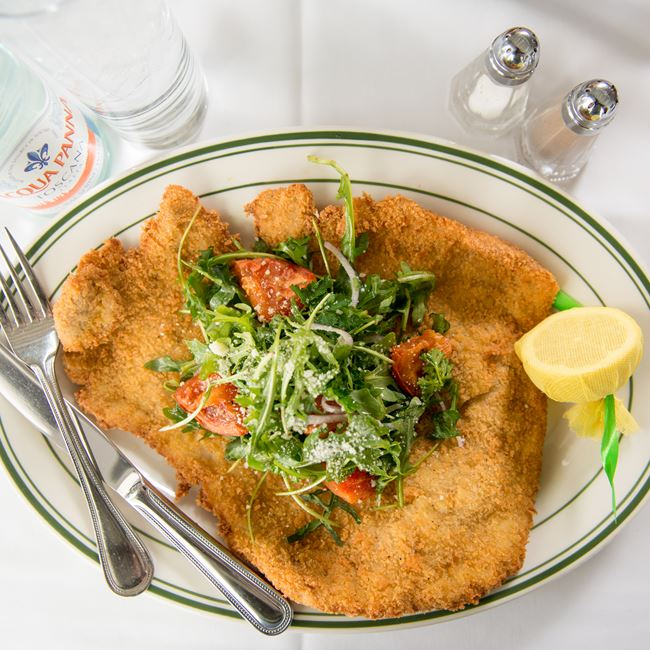 Pork Schnitzel at Barringer's Restaurant