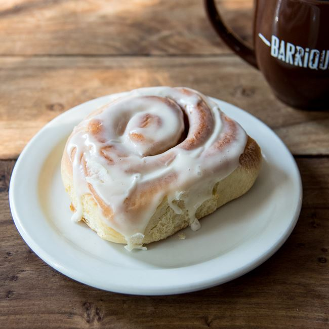 Cinnamon Roll at Barriques