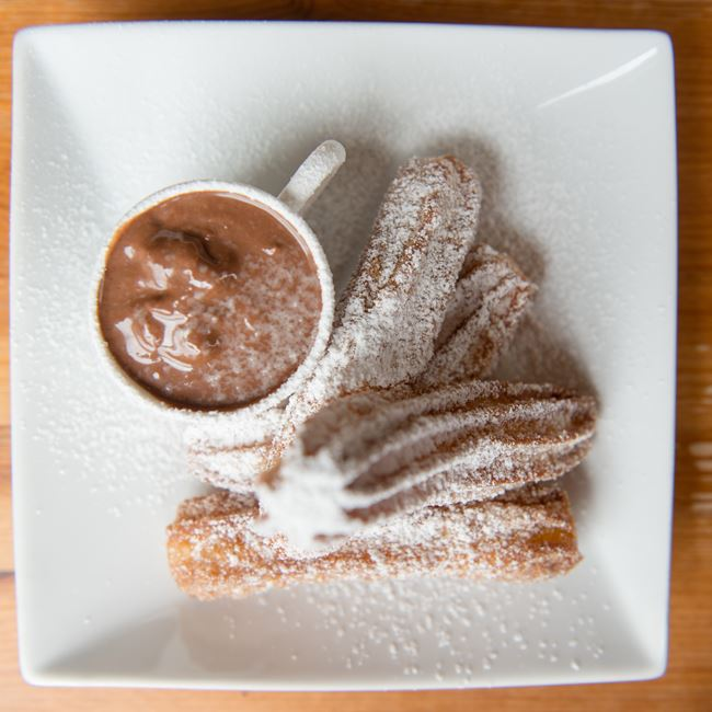 Churros con Chocolate at Parador