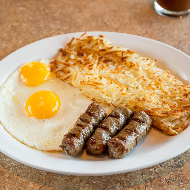 Albanian Sausage and Eggs at Sofra Family Bistro