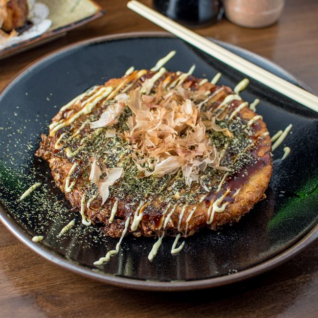 Okonomiyaki at Ramen Station