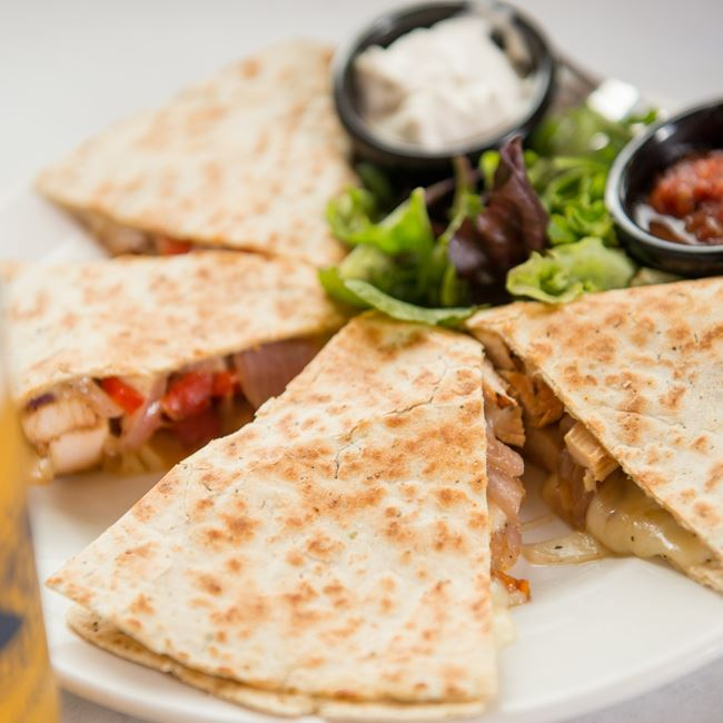 Three Cheese Chicken Quesadilla at Gibraltar Grill