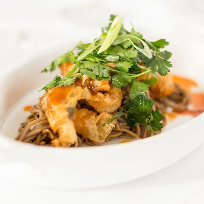 Crispy Shrimp at Bacchus