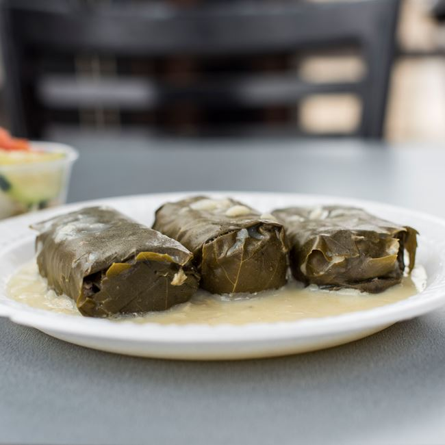 Dolmades Plate at Gyro Palace