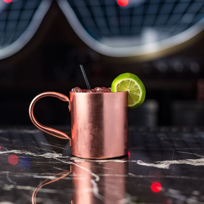 Man with a Copper Mug at SafeHouse