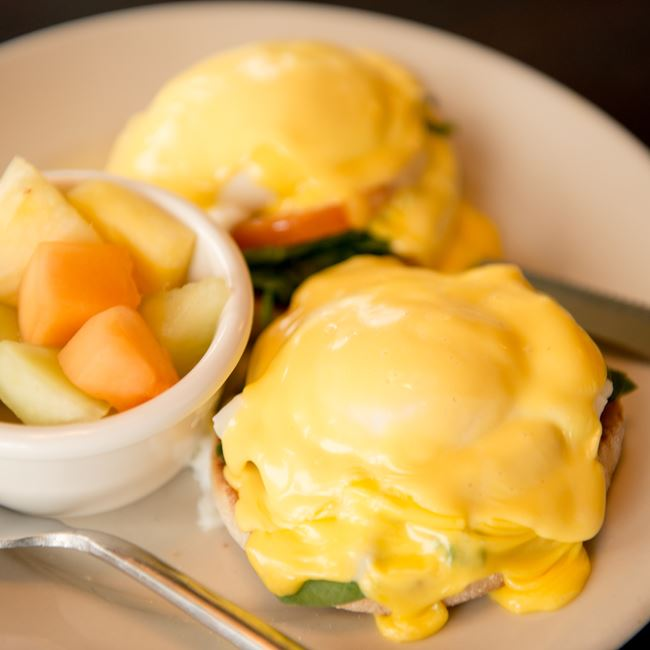 Eggs Benedict at Cedar Crossing Restaurant and Bar