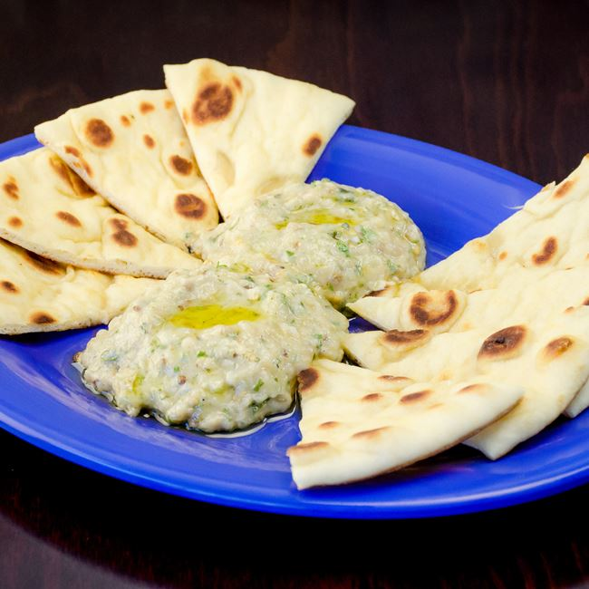 Babaghanoush with Pita at Freska Mediterranean Grill
