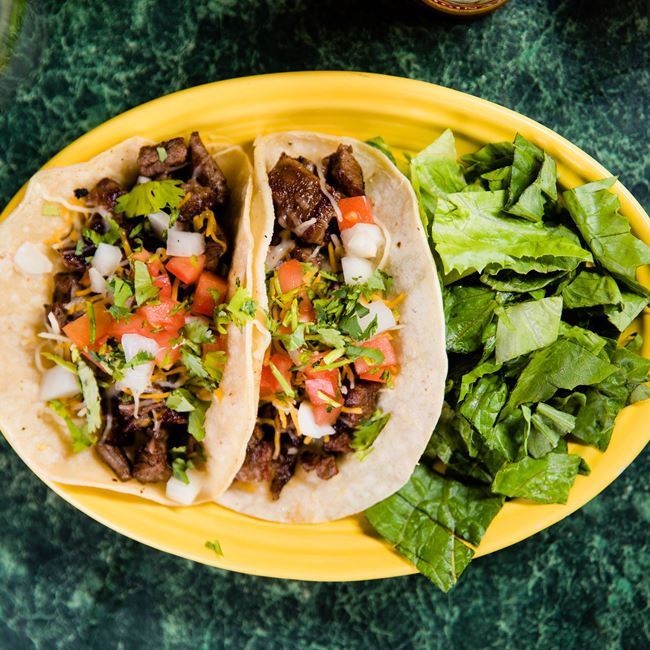 Steak Tacos at Mojo Rosas