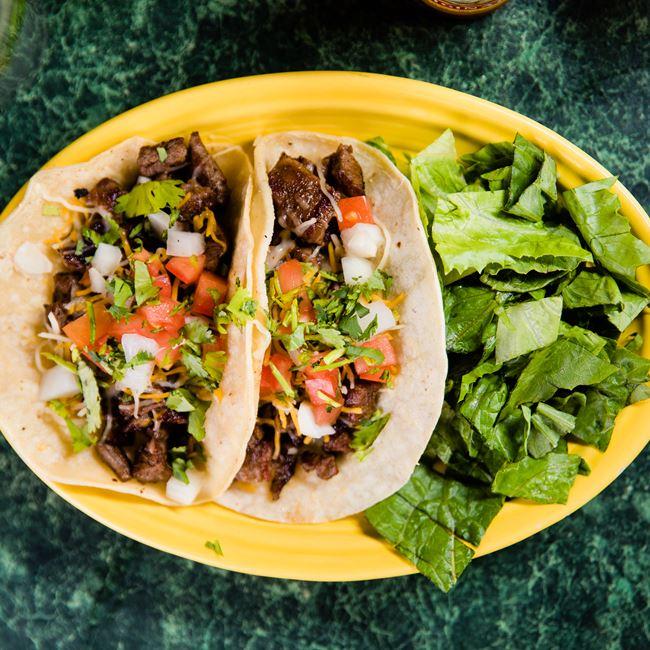 Steak Tacos at Mojo Rosas