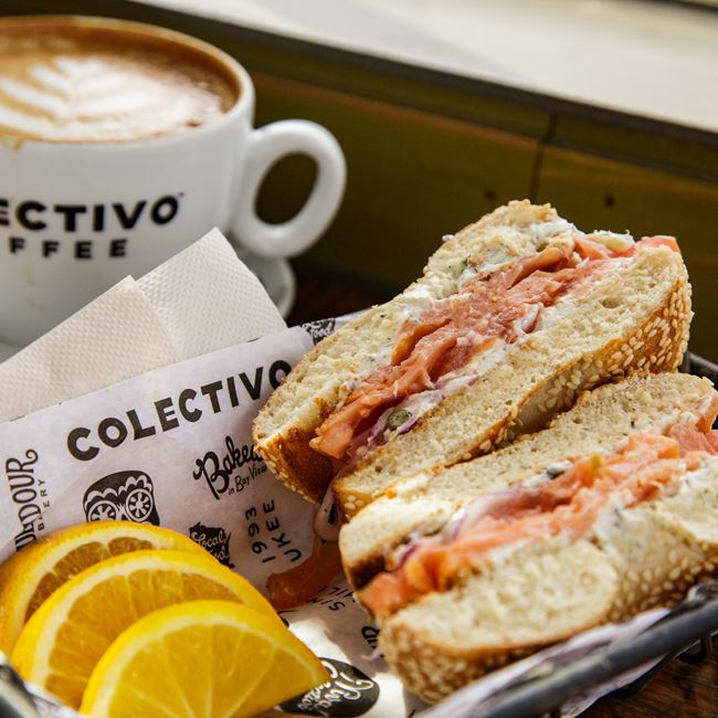 Smoked Salmon Sandwich at Colectivo Coffee