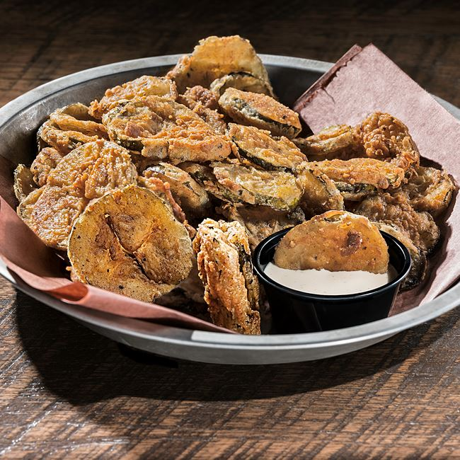 Fried Pickles at DOC's Commerce Smokehouse